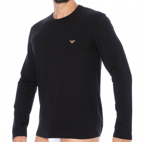 Emporio Armani Shiny Logoband T-Shirt - Black