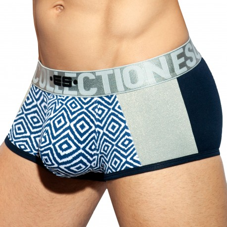 ES Collection Rhombus Combi Trunks - Silver