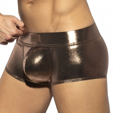 ES Collection Shiny Trendy Push Up Trunks - Gold