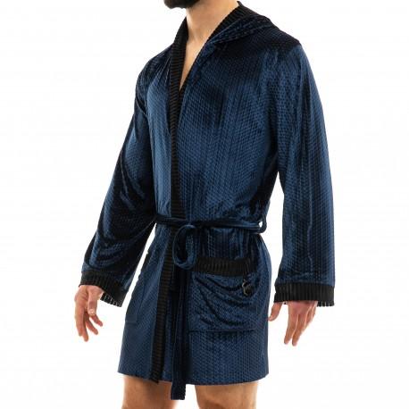 Modus Vivendi Robe de Chambre Tiffany's Velvet Bleu Nuit