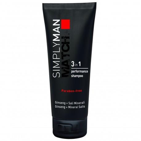 Simply Man Shampoing Performance 3-en-1 - 200 ml