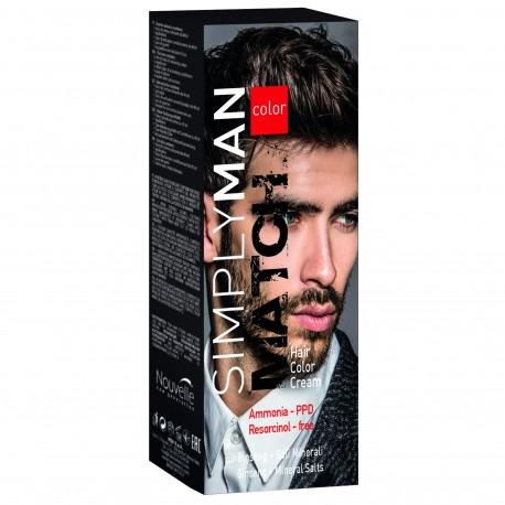 Simply Man Kit de Coloration Capillaire Gel - Châtain