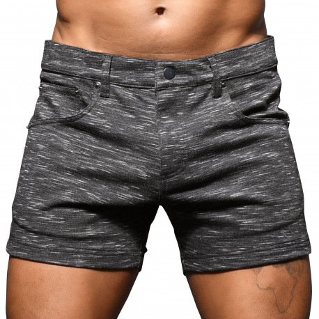 Andrew Christian Short Jeans Stretch Skinny Gris
