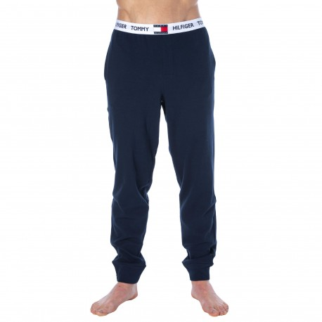 Tommy Hilfiger Pantalon Jogging Coton Bio Bleu Marine