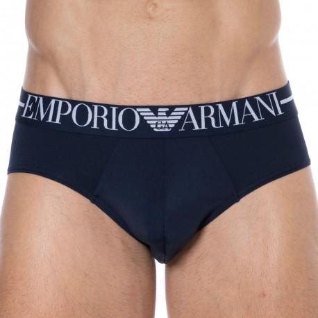 Emporio Armani Slip Microfibre Bleu Marine