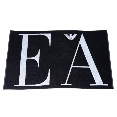 Emporio Armani Drap de Bain Eponge Big Logo Noir