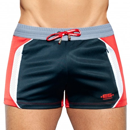 ES Collection Short Sportive Marine - Rouge