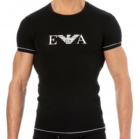 Emporio Armani T-Shirt Iconic Waistband Coton Noir