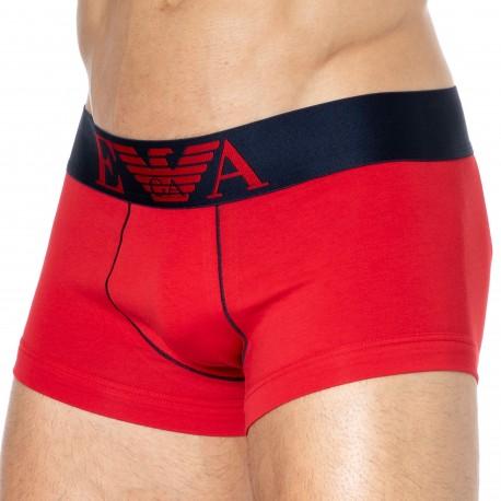 Emporio Armani Iconic Waistband Cotton Boxer Briefs - Red