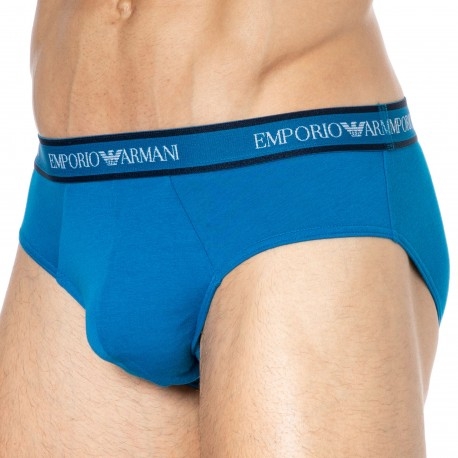 Emporio Armani Slip Core Logoband Coton Bleu Primevère