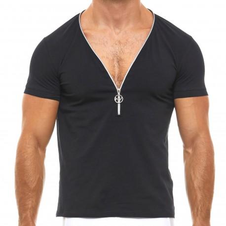 Modus Vivendi Zipper T-Shirt - Black