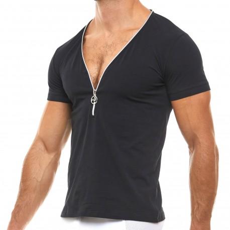 Modus Vivendi T-Shirt Zipper Noir