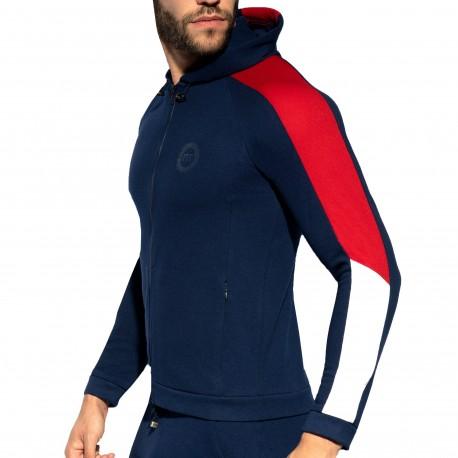 ES Collection Veste Sport Piquée FIT Bleu Marine