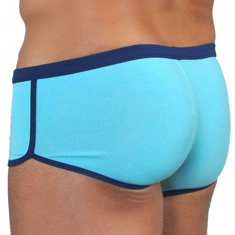 Roberto Lucca Shorty Coton Modal Bleu Turquoise - Marine