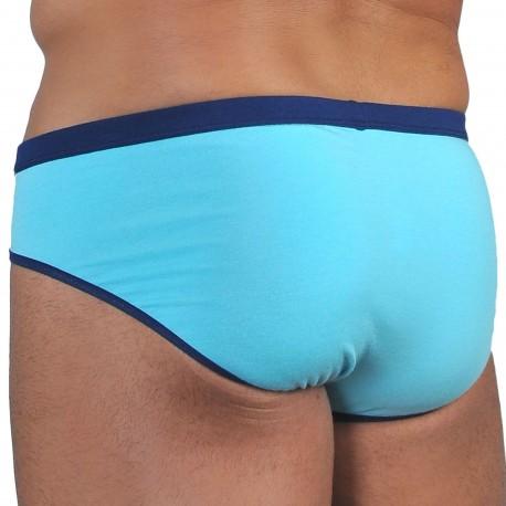 Roberto Lucca Slip Coton Modal Bleu Turquoise - Marine