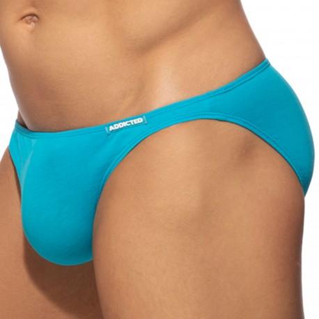 Addicted Slip Bikini Coton Turquoise