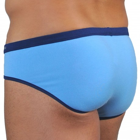 Roberto Lucca Slip Coton Modal Bleu Ciel - Marine