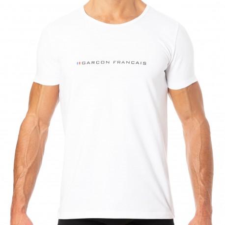 Garçon Français T-Shirt Logo Blanc