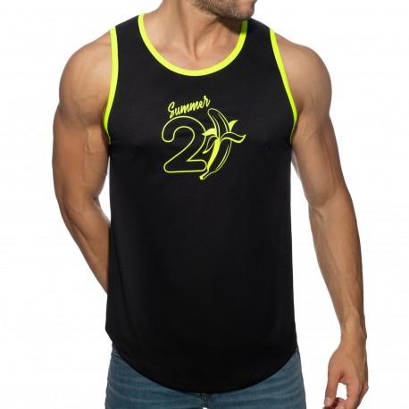 T-Shirts, Polos & Tops Addicted 21 Banana Tank Top - Black - Neon Yellow XS