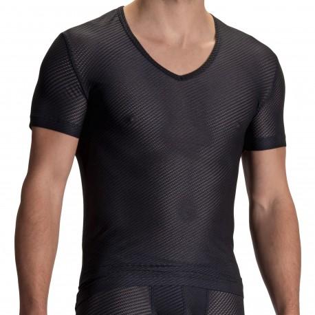 Olaf Benz T-Shirt Col V RED 2112 Noir