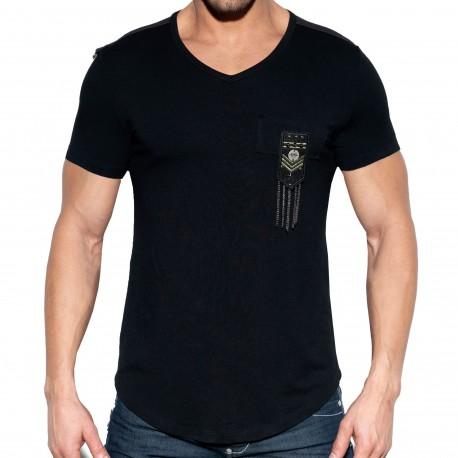 ES Collection Chains Shield T-Shirt - Black