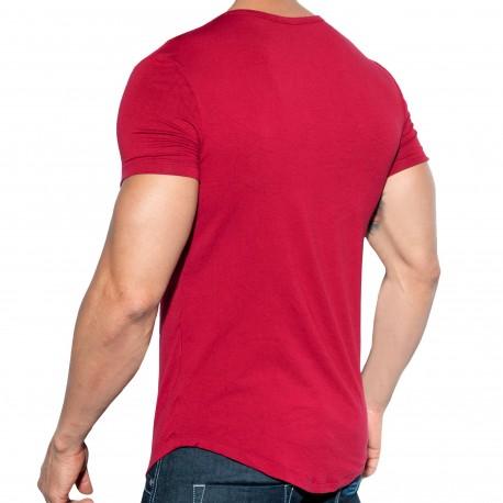 ES Collection T-Shirt Chains Shield Rouge Grenat