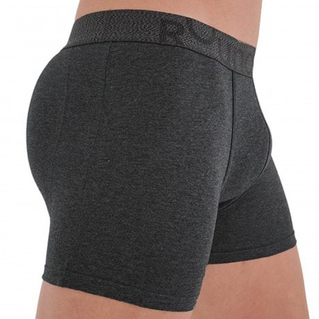 Rounderbum Long Padded Boxer - Charcoal