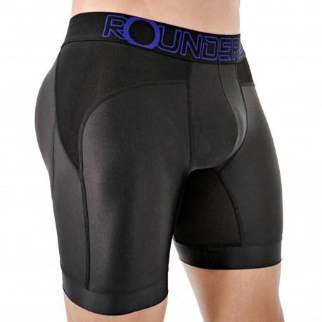 Rounderbum Workout Padded Long Boxer Briefs - Black