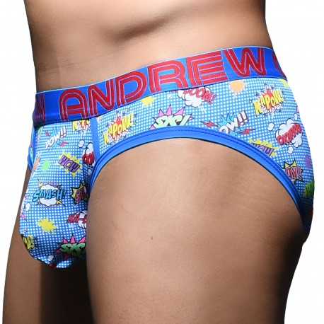 Andrew Christian Almost Naked Superhero Briefs - Blue