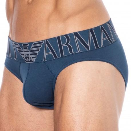 Emporio Armani Megalogo Cotton Briefs - Abyss Blue
