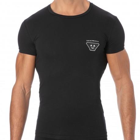 Emporio Armani Emoji X-Mas Cotton T-Shirt - Black