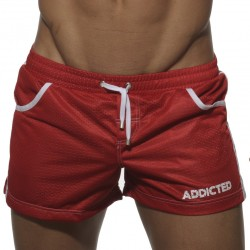 Short de Bain Mesh Rouge Addicted