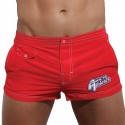 Short de Bain Court Cosmo Baywatch Rouge