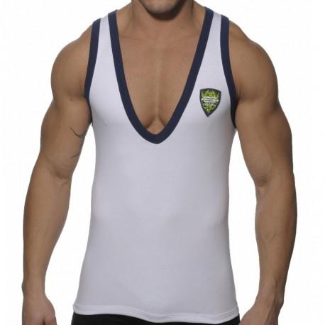 Débardeur V Neck Shield Blanc