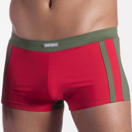 Boxer de Bain Volleypants BLU 1162 Rouge - Kaki
