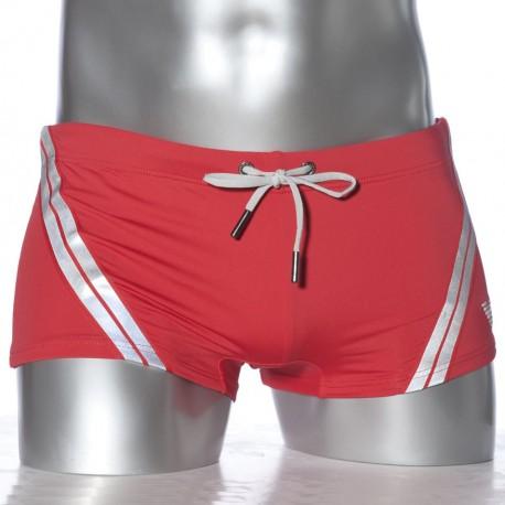 Boxer de Bain Refractive Lycra Rouge