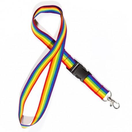 Cordon Porte-Clés Rainbow