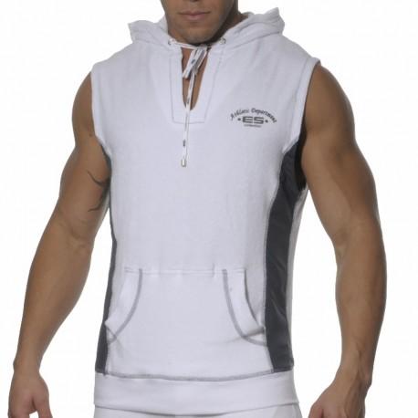 Débardeur Hoody Sports Eponge Blanc