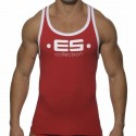 Logo Tank Top - Red - White