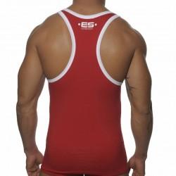 Débardeur Logo Rouge - Blanc ES Collection