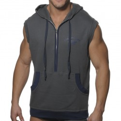 Débardeur Hoody Coton Gris ES Collection