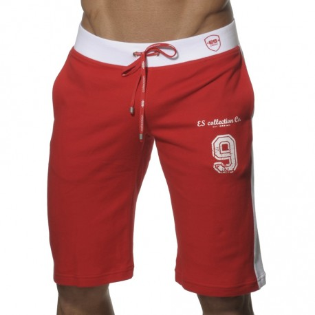 Bermuda Cotton Sports Rouge