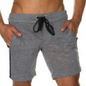 Bermuda Skinny Core Training Gris Clair