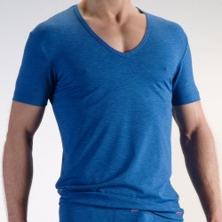 T-Shirt V Neck RED 1214 Bleu Olaf Benz
