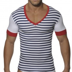 T-Shirt Col V Marin ES Collection