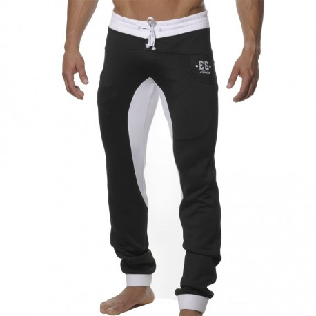 Casual Skinny Pants - Black - White