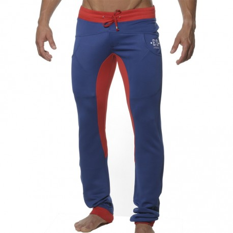 Casual Skinny Pants - Navy - Red