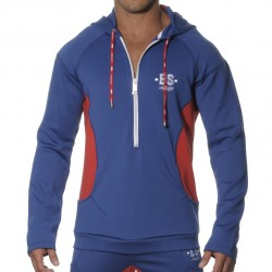 Veste Casual Hoody Marine - Rouge ES Collection