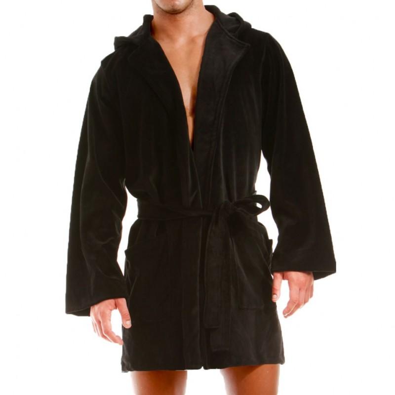 modus vivendi robe de chambre velours noir black. Black Bedroom Furniture Sets. Home Design Ideas