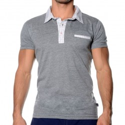 T-Shirt Polo Hamptons Gris Andrew Christian